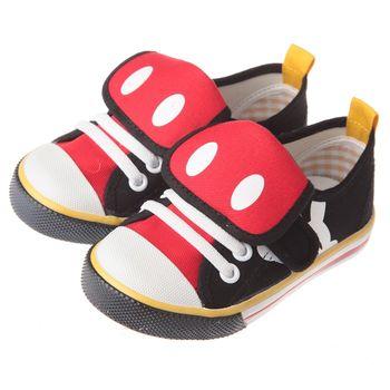 《布布童鞋》Disney迪士尼90週年限定款米奇黑色休閒帆布鞋(14公分~18公分)MDB627D