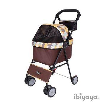 【IBIYAYA依比呀呀】黑旋風寵物推車/機車推車-幾何黃(FS1432)