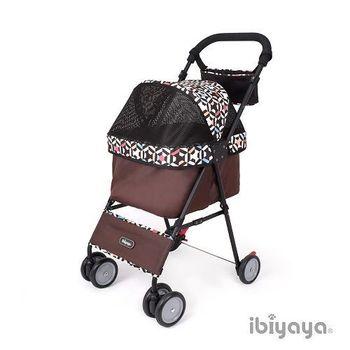 【IBIYAYA依比呀呀】黑旋風寵物推車/機車推車-幾何黑(FS1432)