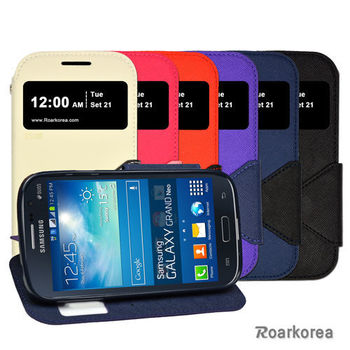 【Roarkorea】Samsung Galaxy Grand Duos開框磁扣式時尚翻頁質感皮套