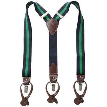 Tommy Hilfiger 2015男時尚彈性寶藍綠色吊帶褲夾(預購)
