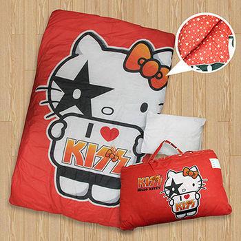 【KISS HELLO KITTY】可愛圖騰兒童睡袋(紅)