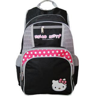 【凱蒂貓 Hello Kitty】時尚休閒書背包(黑_KT-4374)