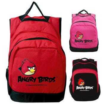 【Angry Birds憤怒鳥】電腦休閒後背包(桃/紅/黑)
