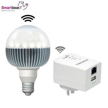 燈藍牙喇叭 WiFi控制可調光LED藍牙音樂球泡燈啟動包
