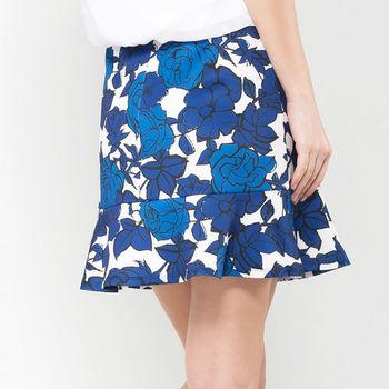 IFOREST 優雅玫瑰花朵魚尾裙15025