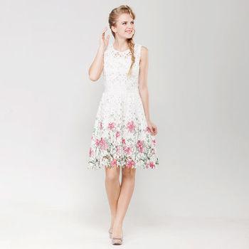IFOREST 唯美緹花蕾絲洋裝15014