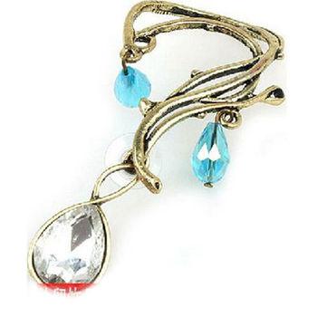 太妃糖 簡單復古水鑽耳環
