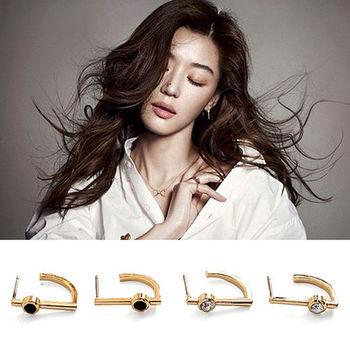 太妃糖 韓國來自星星的你千頌伊高低特色耳環(2色)