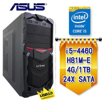【華碩平台】INTEL I5 4460 高效能 四核心 前置USB3.0 旗艦桌上型電腦