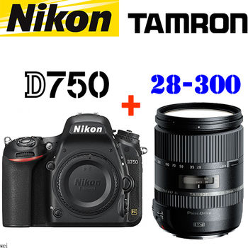 Nikon D750 單機身 (公司貨) + TAMRON 28-300mm F3.5-6.3 Di PZD (公司貨)