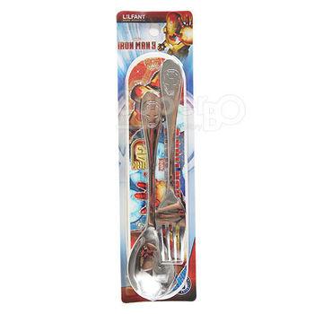 不鏽鋼匙叉組(附盒)-MARVEL鋼鐵人