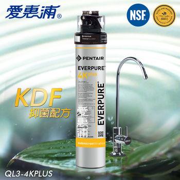 【愛惠浦EVERPURE】家用型KDF強效抑菌淨水器-贈【金樂客】有感濾掛咖啡(QL3-4K plus)