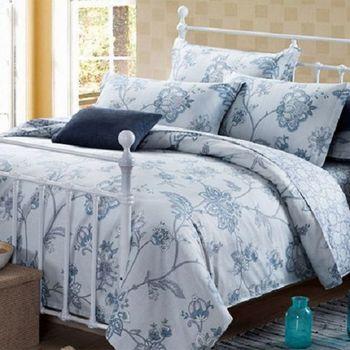 【法式寢飾花季】時尚典藏-加大精梳全棉加大款涼被床包組(印象主義6*6.2尺)