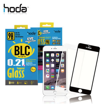 HODA iPhone 6 5.5吋 抗藍光滿版鋼化康寧玻璃保護貼