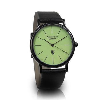 【Arseprince】彩虹之夜簡約中性錶-綠色