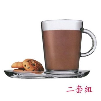 土耳其Pasabahce精緻玻璃咖啡杯盤-二套組