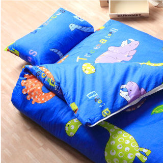 【R.Q.POLO】恐龍樂園 兒童冬夏兩用書包型睡袋(4.5X5尺)