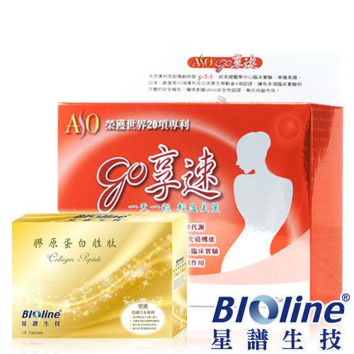 【BIOline星譜生技】go享速(30錠/盒)+膠原蛋白胜?(10錠/盒)