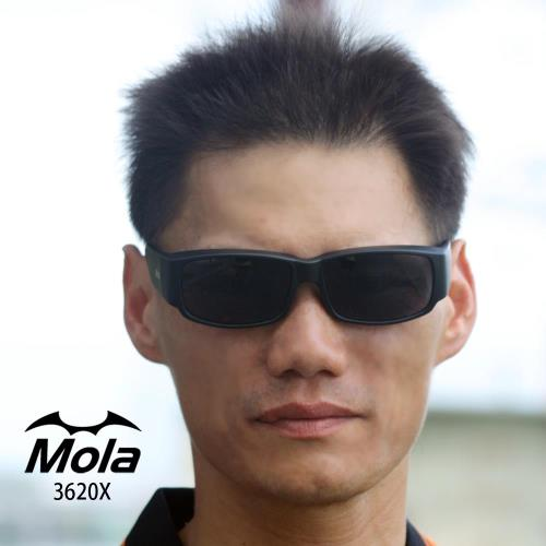 MOLA摩拉輕量外掛式偏光太陽眼鏡 近視眼鏡直接戴 3620Xblpl