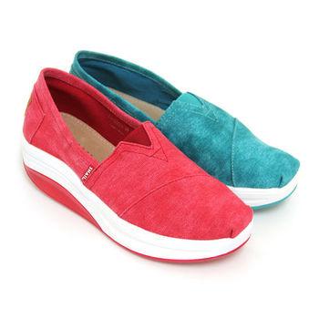 【SNAIL蝸牛】盛夏亮彩極簡輕量厚底休閒懶人鞋-綠色、紅色