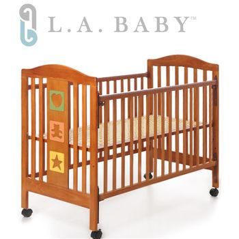 L.A. Baby 美國加州貝比 維吉尼亞嬰兒中床/原木床/童床(咖啡色)