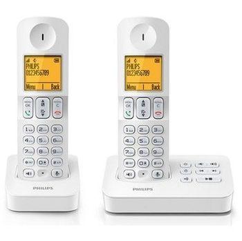 飛利浦PHILIPS 中文數位子母無線電話D4052W