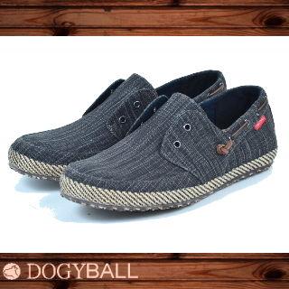 【Dogyball】JB6 - Palm 無鞋帶懶人帆船鞋 - 黑色