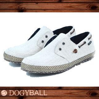 【Dogyball】JB6 - Palm 無鞋帶懶人帆船鞋 - 淺米白色