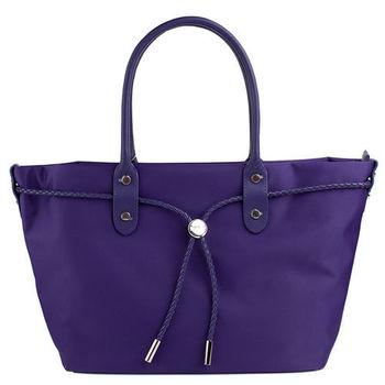 agnes b.  尼龍麻繩束袋手提肩背包-小 (紫色)