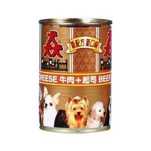 【Pure Petfood】猋罐頭-牛肉+起司 狗罐385g X 24入