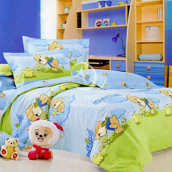 【卡莎蘭】無憂小熊 雙人純棉四件式二用被床包組