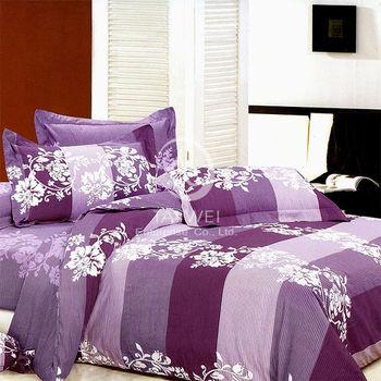 【卡莎蘭】東京之戀 雙人純棉四件式二用被床包組