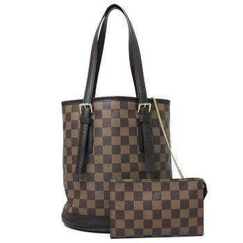 LV】N42240 BUCKET 棋盤格紋子母肩背水桶包(預購)