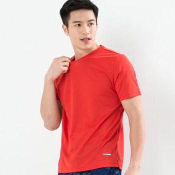 CoolMax 吸濕排汗衣 涼感舒適新體驗 真機能吸排素色T恤型男 紅