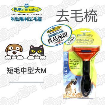 美國FURminator 神效專利去毛梳【短毛中型犬(M)】