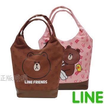 【LINE FRIENDS】俏麗肩背帆布包(二色)