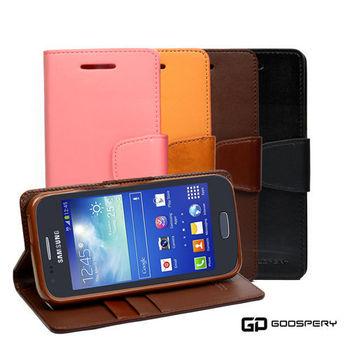 【GOOSPERY】Samsung Galaxy ACE3 小牛皮磁扣式翻頁皮套