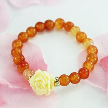 【xmono】幸福玫瑰花手鍊(瑪瑙)