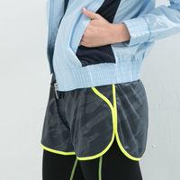 女款 短褲 慢跑褲 飄飄褲 馬拉松褲 無內裡 吸排 新色上市 深灰螢光綠邊