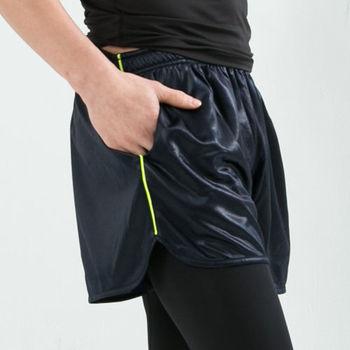 男款 短褲 慢跑褲 飄飄褲 馬拉松褲 無內裡 超快速吸排 新色上市 亮面丈青