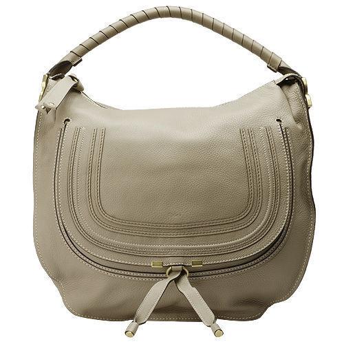 CHLOE 經典Marcie Large Bag小牛皮單把手提/肩背包(淺灰色-大)