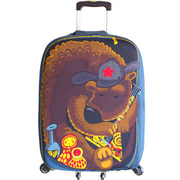 可愛熊行李箱防塵亮彩保護套(26-30吋適用)