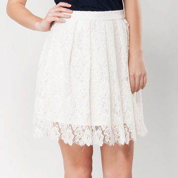 IFOREST 時尚唯美蕾絲短裙(白色)15035