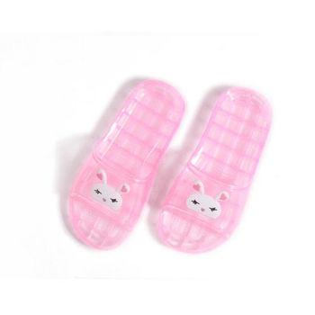 【333家居鞋】8455 動物家族兒童浴室拖鞋-粉紅色