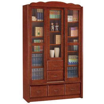 【時尚屋】[UZ5]楓原柚木色4尺推門書櫃840-4