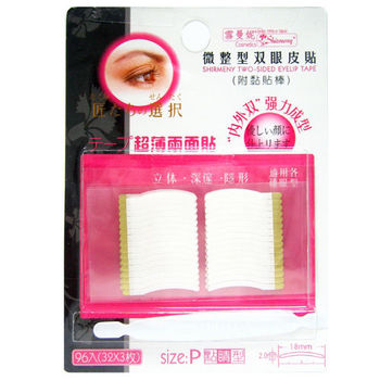雪曼妮微整型雙眼皮貼-P點睛型96入*6包組合特價包(3M雙面貼膠)