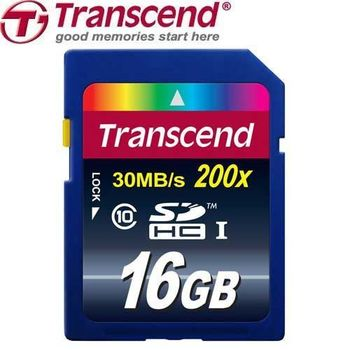 Transcend 創見 16GB 30MB/s SD SDHC USH-I C10 記憶卡