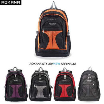【AOKANA奧卡納】防潑水 透氣紓壓後背包 電腦後背包(任選一枚68-044)