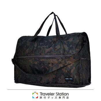 《Traveler Station》HAPI+TAS 摺疊圓形旅行袋(小)新款-228男版軍綠迷彩